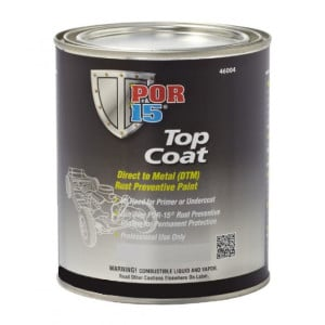 POR15 Top Coat Glossy Black Paint (BlackCote) US Quart (946ml)