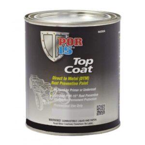 POR15 Top Coat Glossy Black Paint (BlackCote) US Quart (946ml)