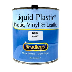 Bradleys Interior Liquid Plastic Paint Soft Leather/Vinyl Coat - BISCUIT (1L)