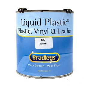 Interior Liquid Plastic Paint Soft Leather/Vinyl Coat - WHITE (1L)