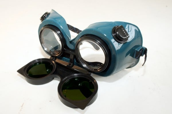 Flip-Up Goggles with Green Lens