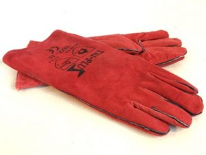 Leather Welding Long Gloves / Gauntlets
