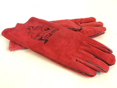 Leather Welding Long Gloves / Gauntlets