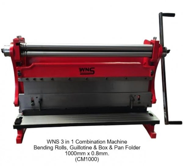 3 in 1 - Guillotine, Roller and Bender Sheet Metal Machine (Cut, Roll, Folder) - 1000mm Long-0