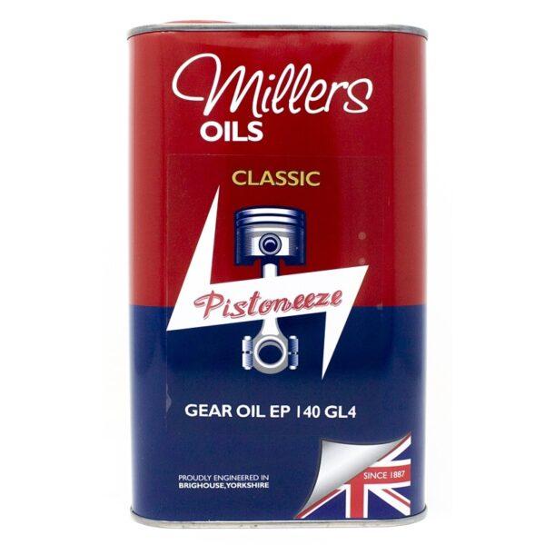 Millers Oils Pistoneeze Classic Gear Oil EP 140 GL4 (1L)