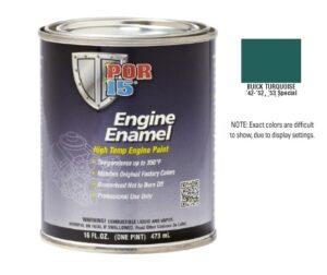 POR15 Buick Turquoise Engine Enamel Paint (473ml)-0