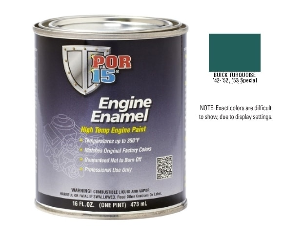 POR15 Buick Turquoise Engine Enamel Paint (473ml)-0