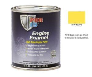 POR15 Hi-Po Yellow Engine Enamel Paint (473ml)-0