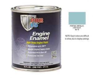POR15 Pontiac Metallic Light Blue Engine Enamel Paint (473ml)-0