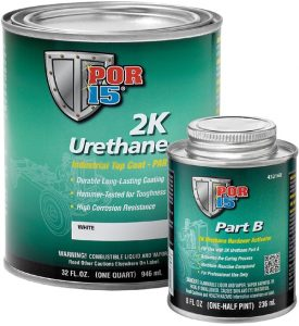 POR15 2K Urethane CLEAR - Two Component Coating (aka Glisten PC) (US Quart, 946ml)