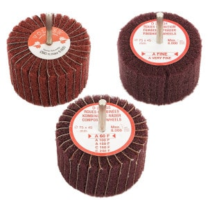 Set of 3 Composite Finishing Wheels