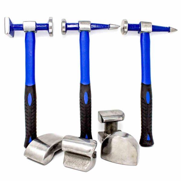 Hammer and Dolly Set - Fibreglass Handles (7 pieces)