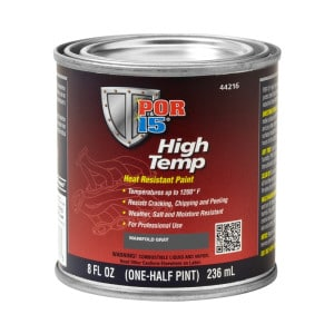 POR15 High Temp Factory Manifold Grey Heat Resistant Paint (236ml)