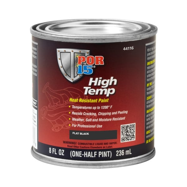 POR15 High Temperature Flat Black Heat Resistant Paint (Black Velvet)