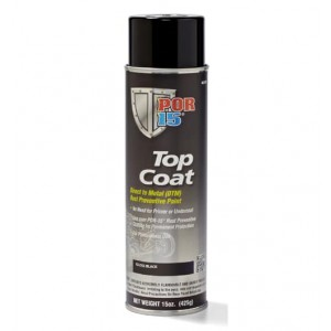 POR15 Top Coat Glossy Black Paint (BlackCote) Aerosol (368g)