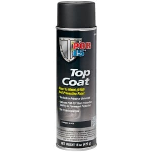 POR15 Top Coat Chassis Coat Black Aerosol (368g)