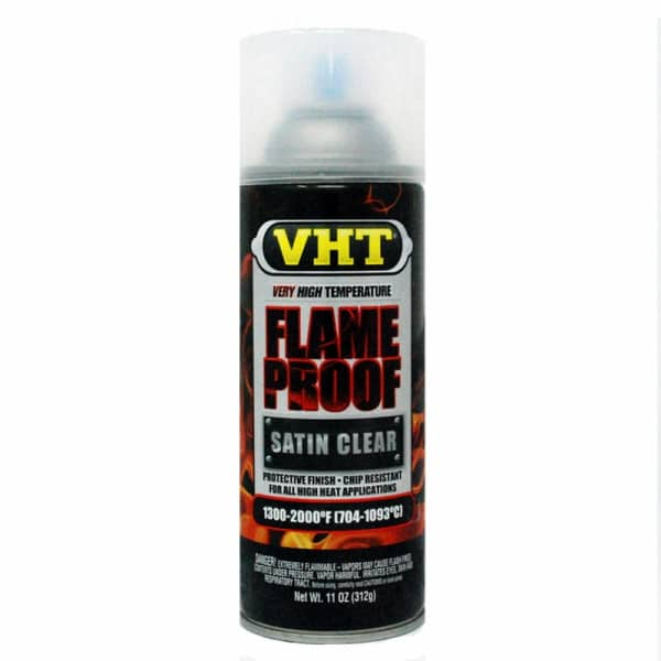 VHT Very High Temperature Satin Clear Flame Proof Paint (312g)