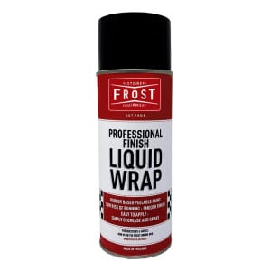 Frost Liquid Wrap Matt Black Rubber Coating Aerosol (400ml)