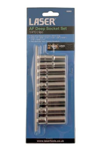 1/4inch Drive AF Deep Socket Set (9pc)-7539