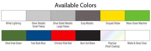 Elastiwrap colour chart