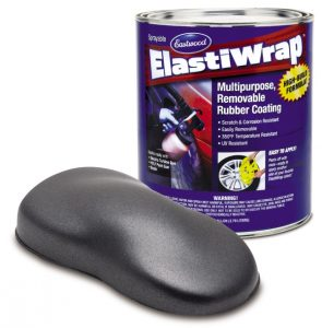 Elastiwrap GREY METALLIC Rubber Coating Dip US Gallon (3.78L)