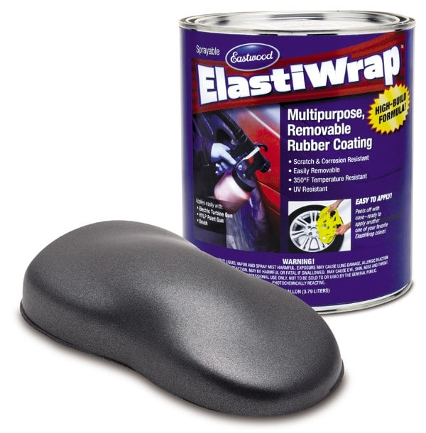 Elastiwrap GREY METALLIC Rubber Coating Dip US Gallon (3.78L)