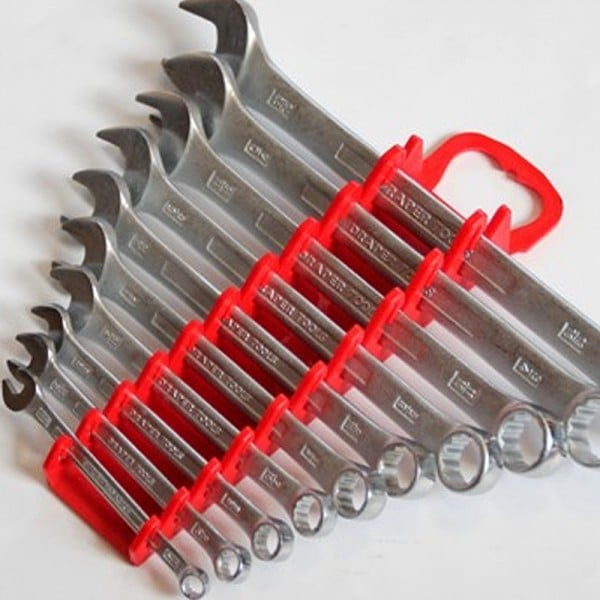Stubby Gripper Spanner Rack Wrench Organiser (Holds 10)