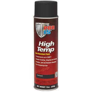POR15 High Temp Flat Black Heat Resistant Paint (Black Velvet) US Quart (946ml)