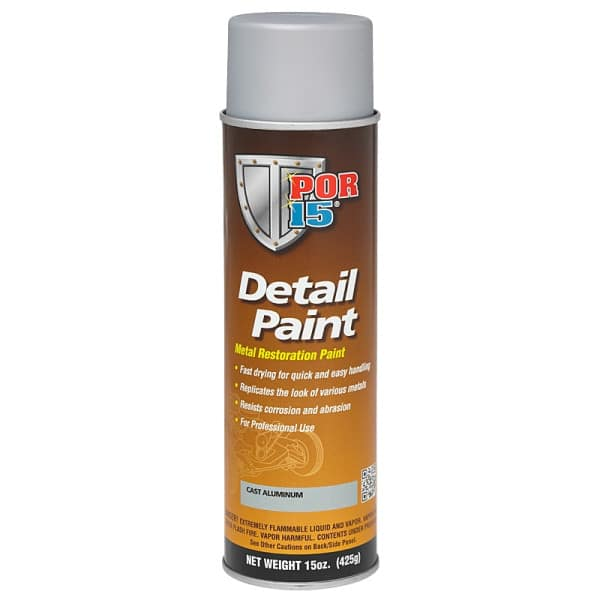 POR15 Detail Paint Aerosol - Cast Aluminium (425gm)