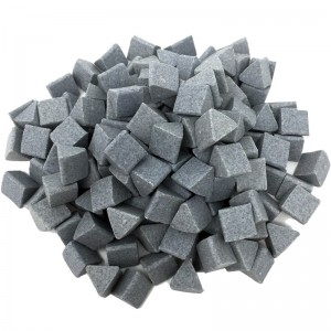 Motor Parts Vibratory Tumbler Media - Ceramic Triangles (1kg)