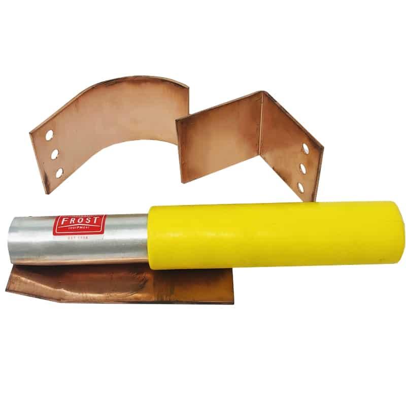 Welders Copper Helper Spoon - 3pc Set Flat / Curve / Angle Copper Plates