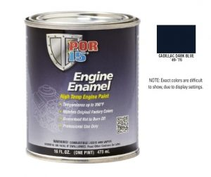 POR15 Cadillac Dark Blue Engine Enamel Paint (473ml)-0