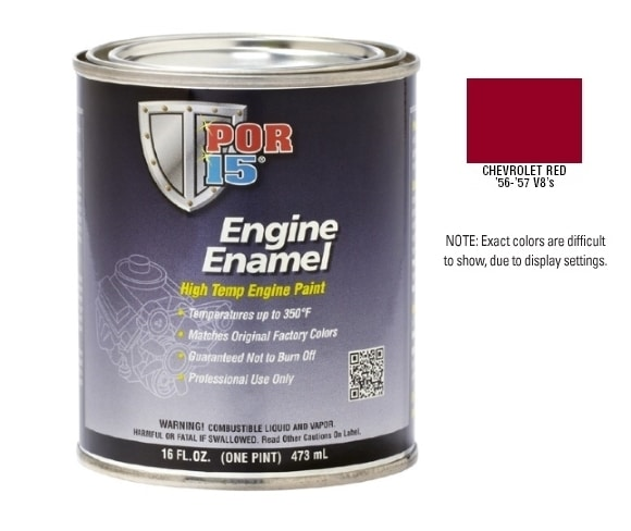 POR15 Chevy Red Engine Enamel Paint (473ml)-0