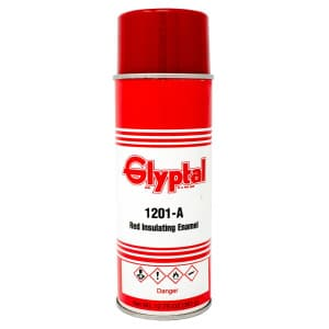 Glyptal Red Engine Enamel Paint Aerosol Red