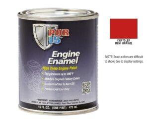 POR15 Chrysler Hemi Orange Engine Enamel Paint (473ml)-0