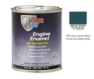 POR15 Chrysler Turquoise Engine Enamel Paint (473ml)-0
