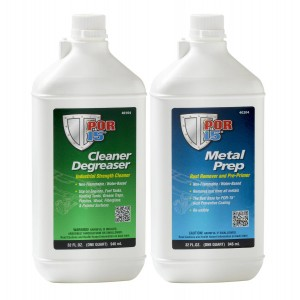 POR15 Metal Treatment Pack - Cleaner Degreaser & Metal Prep (US Quart)