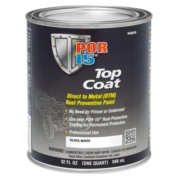 POR15 Top Coat Gloss White 946ml (US Quart)