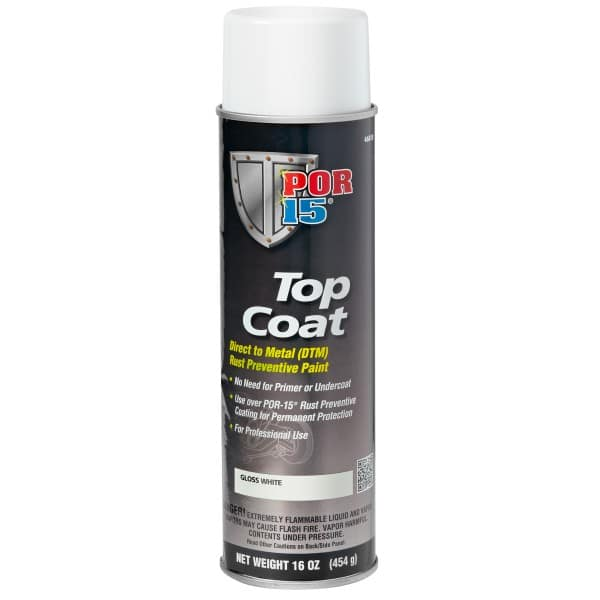 POR15 Top Coat Gloss White Aerosol (368g)
