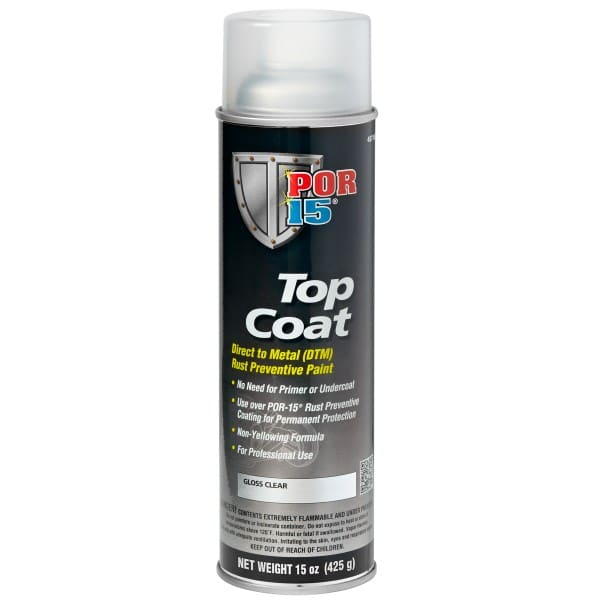 POR15 Top Coat Gloss Clear Aerosol (368g)