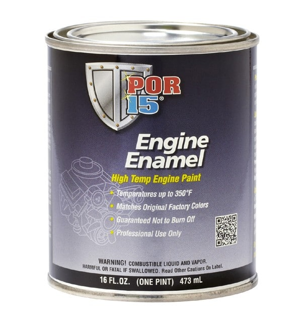 POR15 White Engine Enamel Paint (473ml)