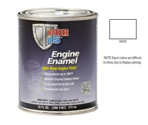 POR15 White Engine Enamel Paint (473ml)-0