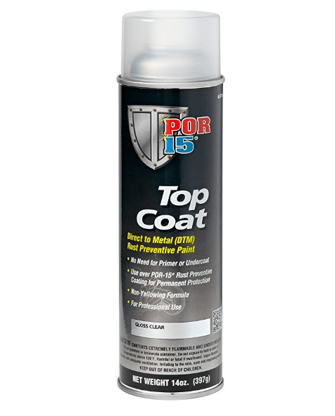 POR15 Top Coat Gloss Clear Aerosol (368g)-0