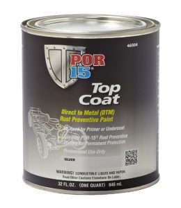 POR15 Top Coat Gloss White 473ml (US Pint)