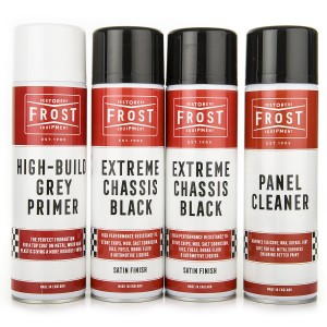 Frost Extreme Chassis Black SATIN Paint Aerosols Kit (Paint, Primer and Cleaner)