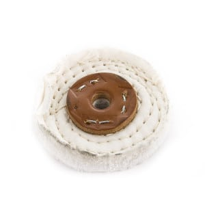 "White Stitched Polishing Mop 75mm x 1 Section C/S (3"" x 1/2"")"