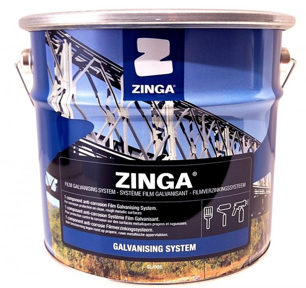 Zinga Cold Galvanising System - Anti Rust / Corrosion Zinc Coating (5kg)