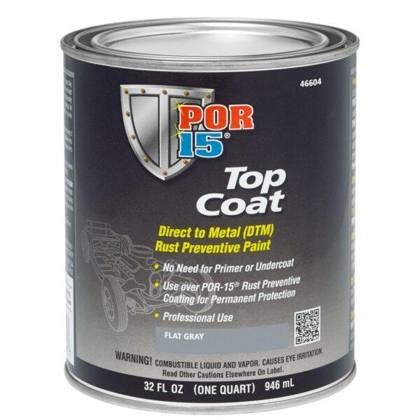 POR-15 Top Coat Flat Gray Colour 946ml (US Quart)