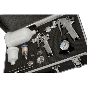 HVLP Gravity Feed Spray Gun Kit (2 Sprayguns 600ml and 125ml)