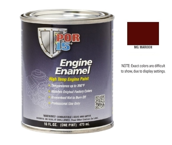 POR15 MG Maroon Engine Enamel Paint (473ml)-0